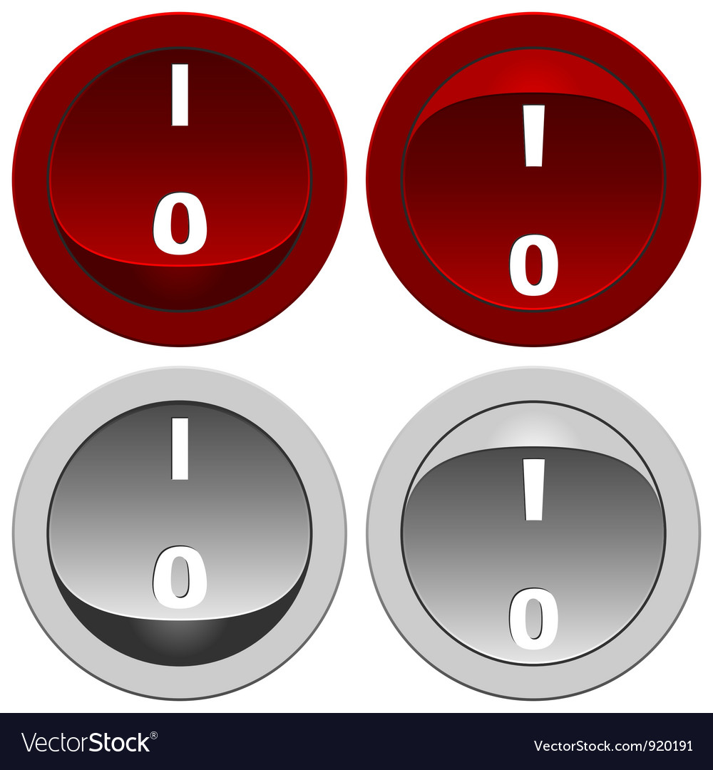 Switch buttons set vector | Price: 1 Credit (USD $1)