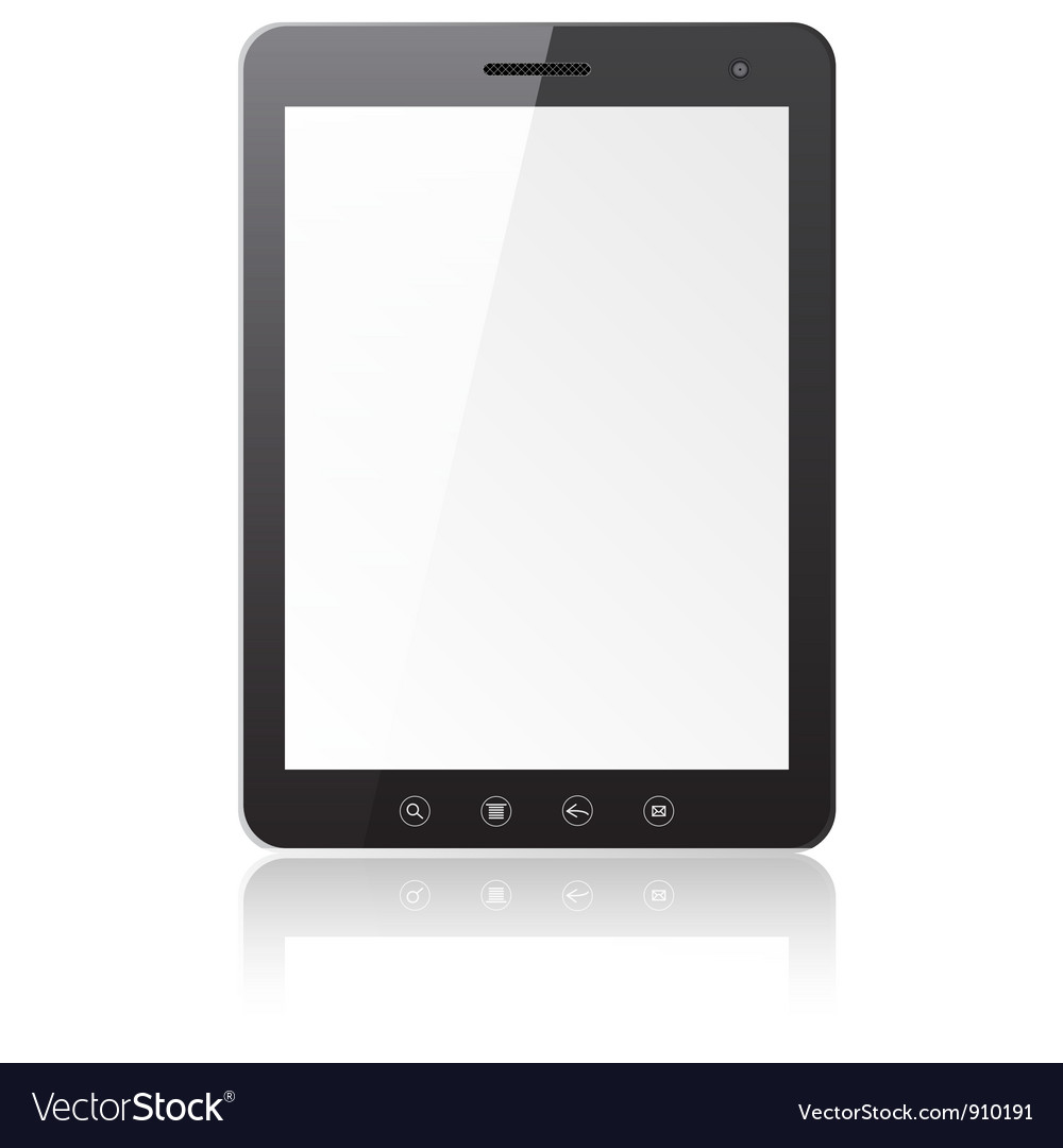 Tablet pc computer vector | Price: 1 Credit (USD $1)