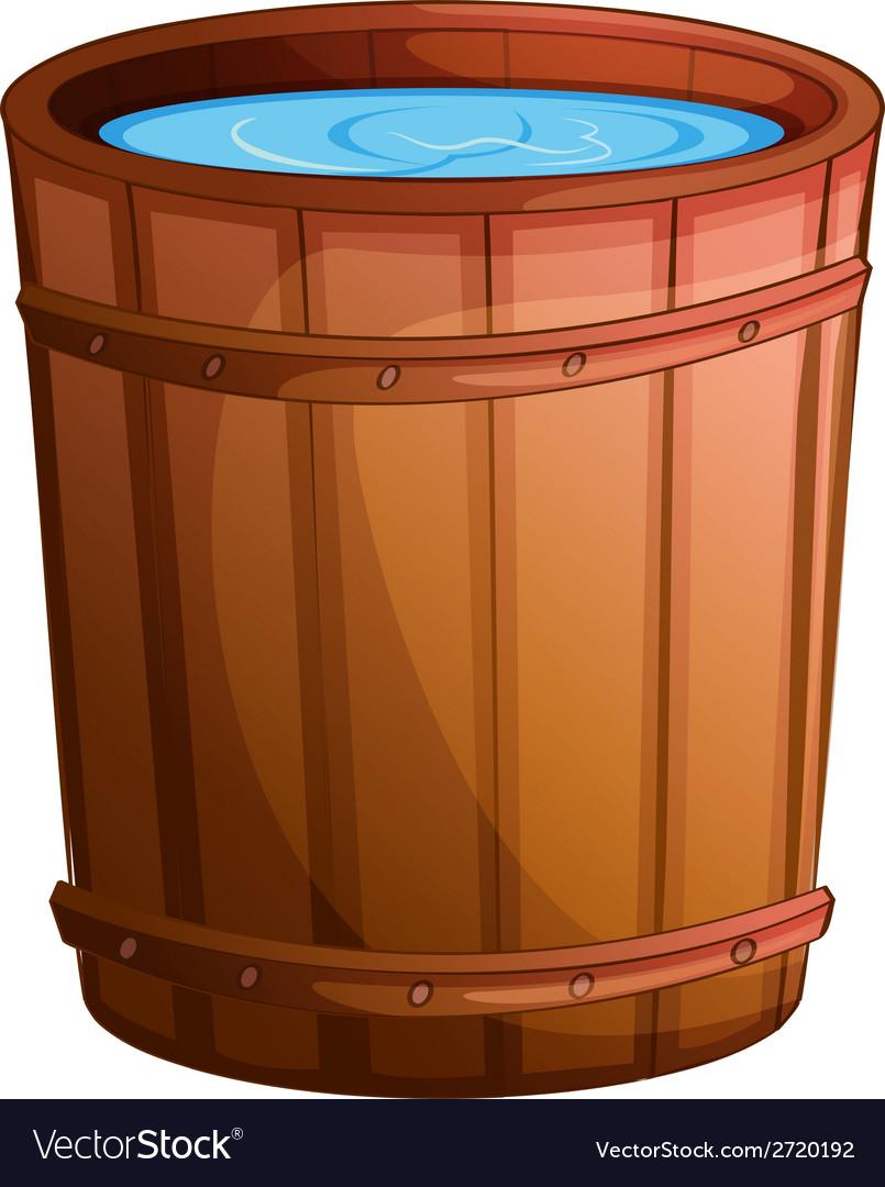 A big bucket of water vector | Price: 1 Credit (USD $1)