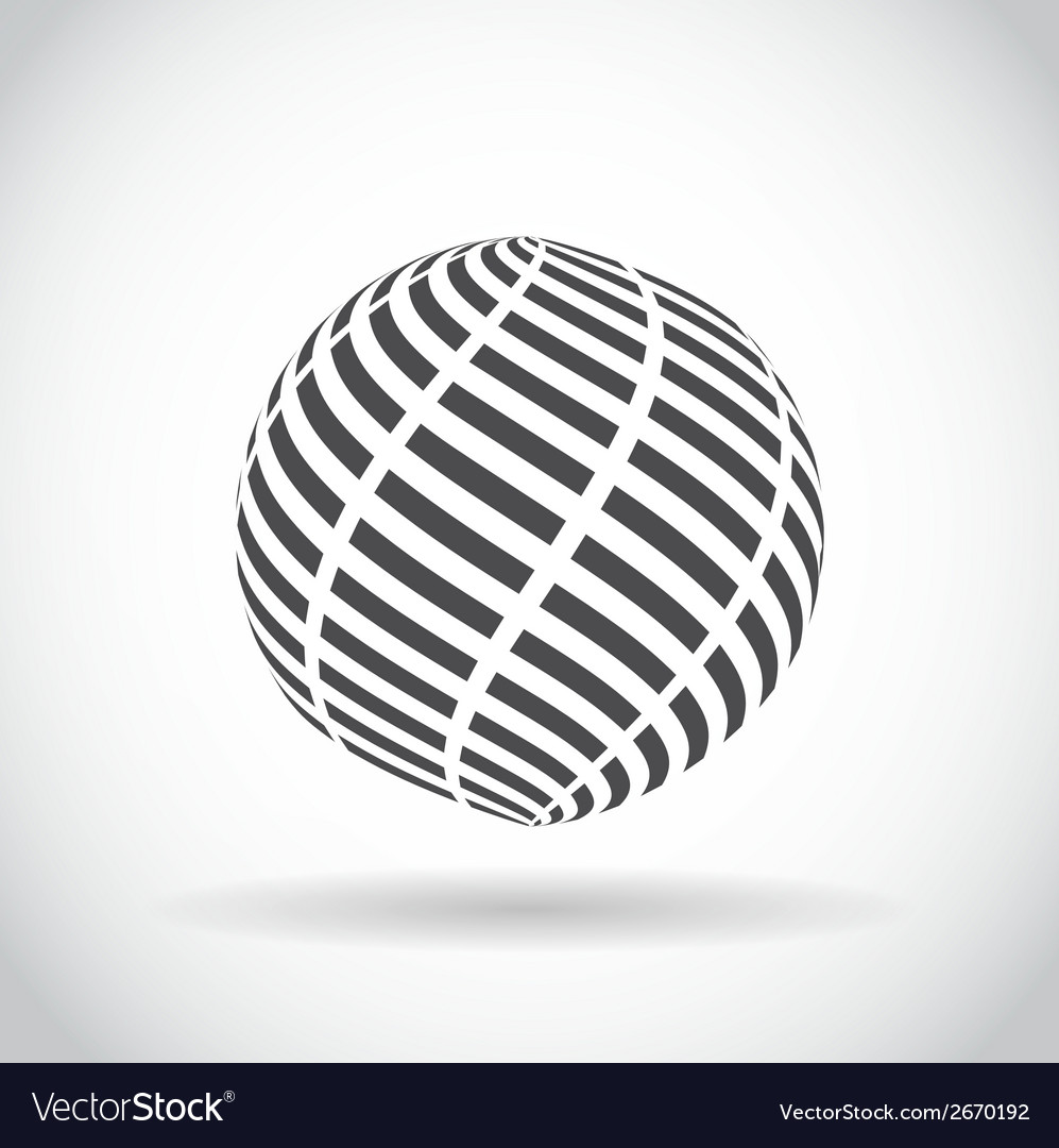 Abstract swirl sphere globe symbol vector | Price: 1 Credit (USD $1)