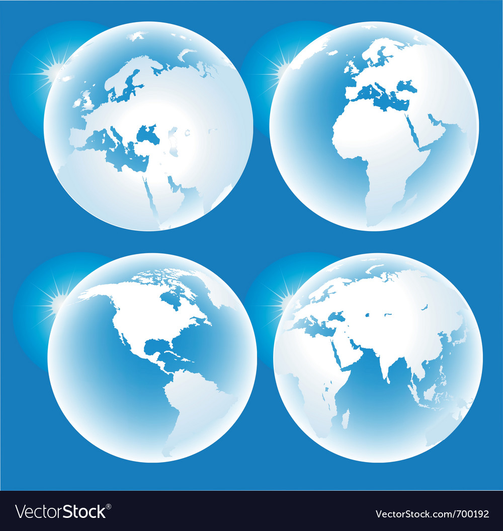 Blue glossy globes vector | Price: 1 Credit (USD $1)