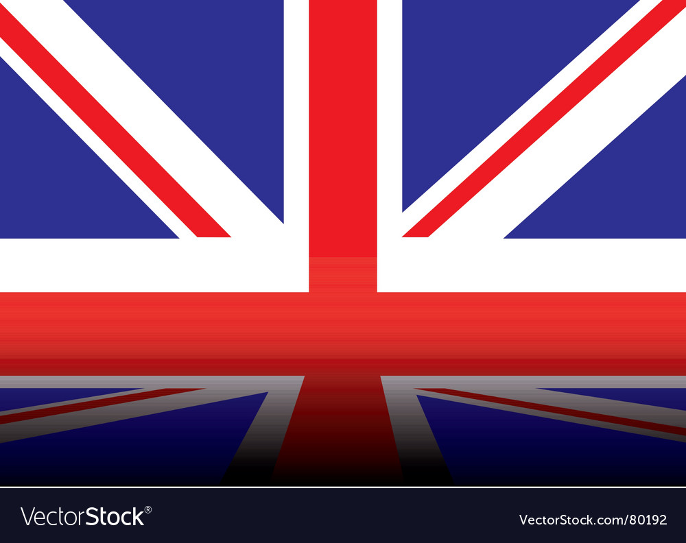 British flag shadow vector | Price: 1 Credit (USD $1)