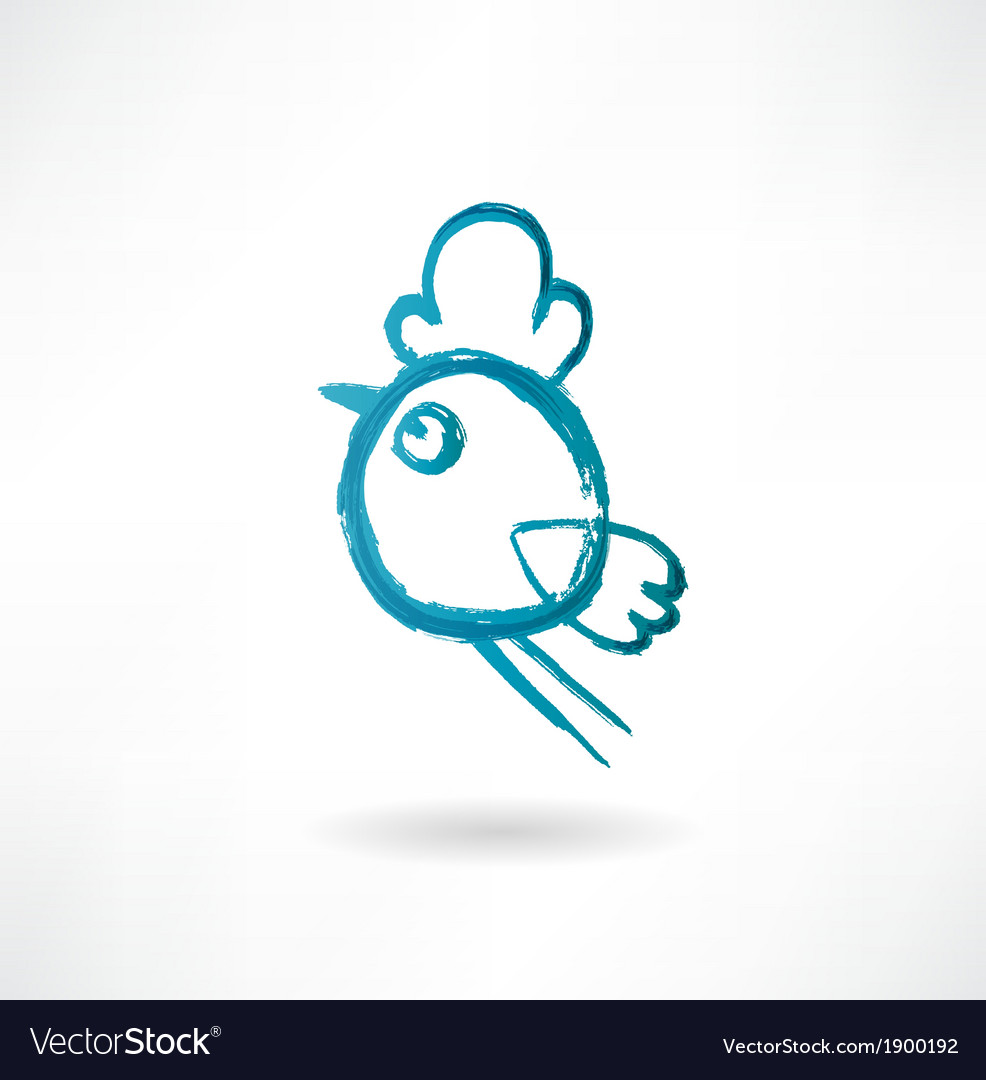 Chicken icon vector | Price: 1 Credit (USD $1)