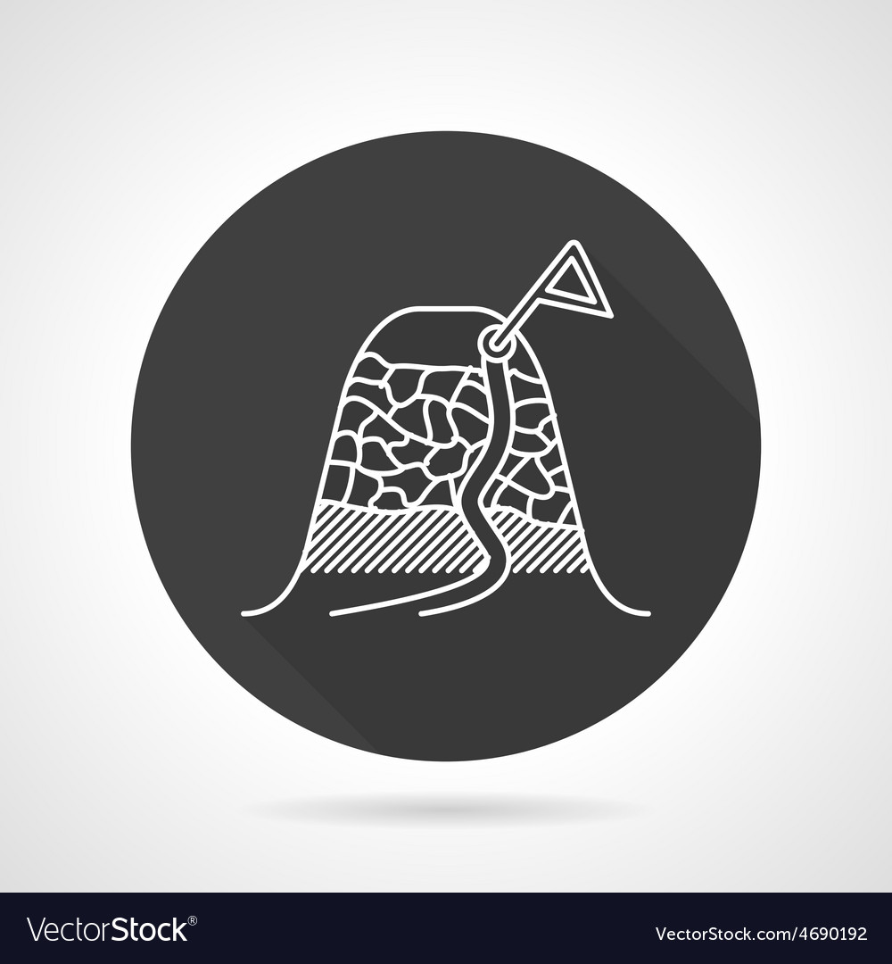 Climbing route black round icon vector | Price: 1 Credit (USD $1)