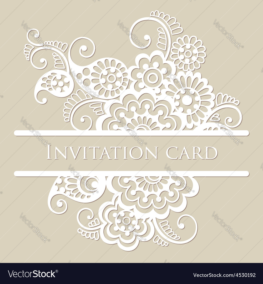 Lace card vector | Price: 1 Credit (USD $1)