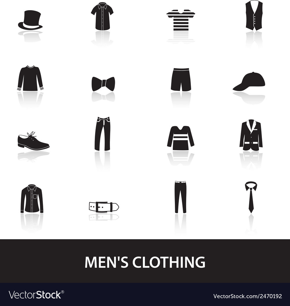 Mens black clothing eps10 vector | Price: 1 Credit (USD $1)