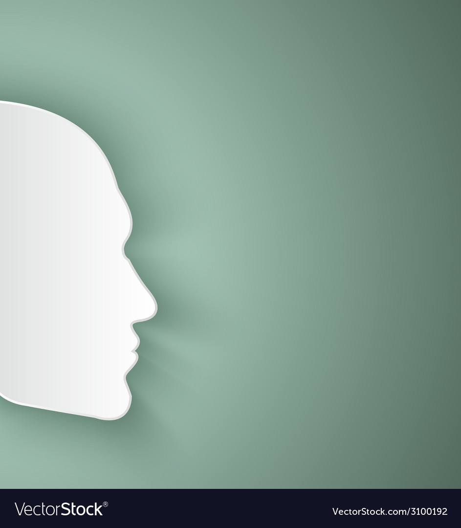 Paper human face vector | Price: 1 Credit (USD $1)