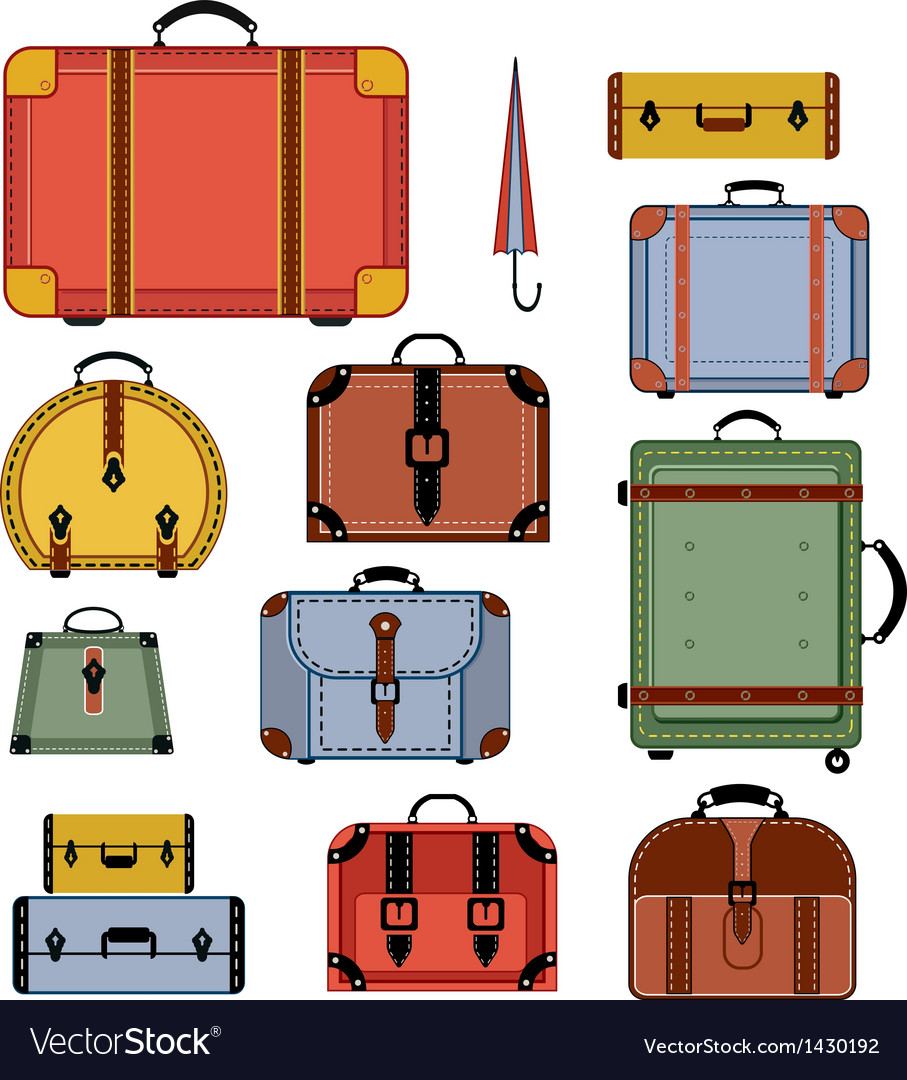 Retro travel bags vector | Price: 3 Credit (USD $3)