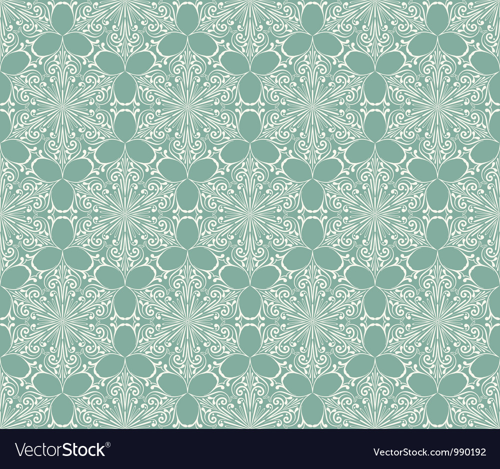 Seamless lacy winter pattern with snowflakes vector | Price: 1 Credit (USD $1)