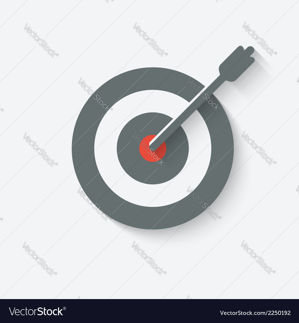 Target with arrow vector | Price: 1 Credit (USD $1)