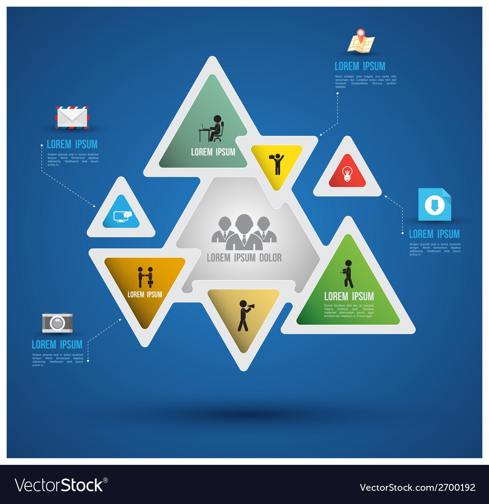 Triangle abstract paper infographics vector