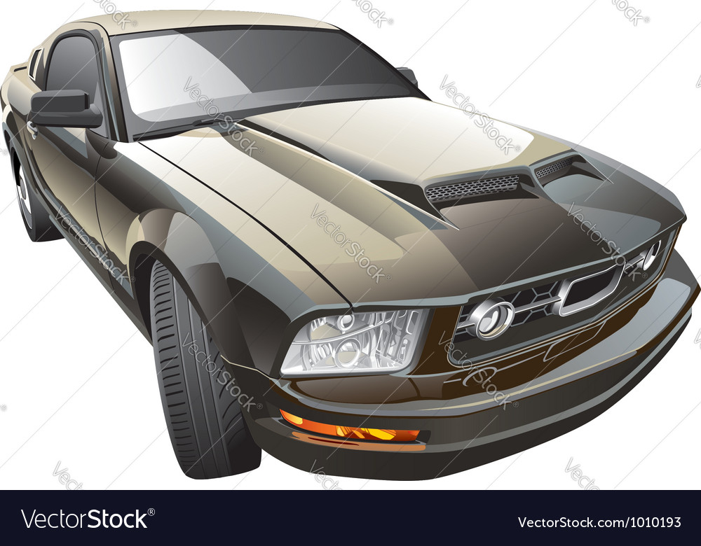 American sport car vector | Price: 5 Credit (USD $5)