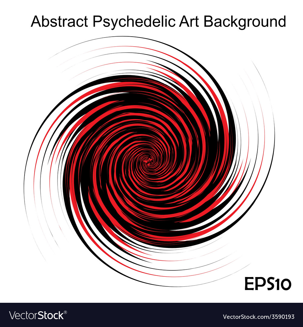 Black and red hypnotic background vector | Price: 1 Credit (USD $1)