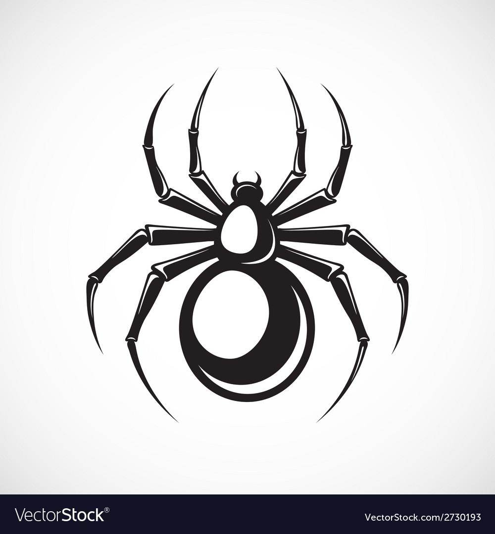 Black spider emblem vector | Price: 1 Credit (USD $1)