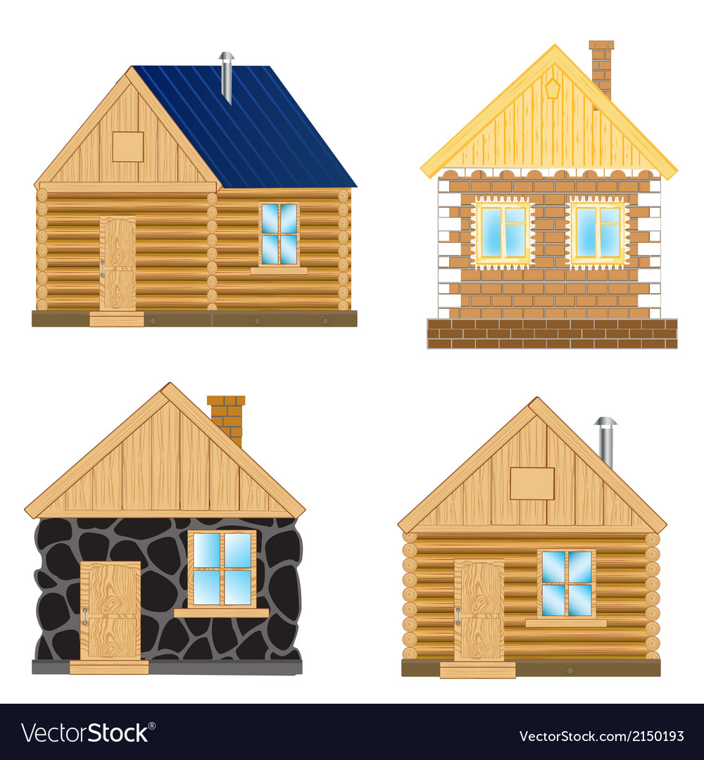 Buildings on white background vector | Price: 1 Credit (USD $1)