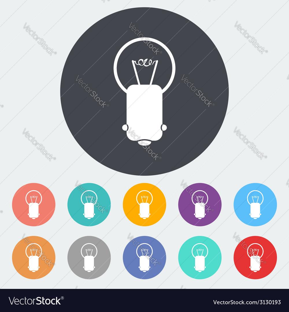 Bulb single icon vector   Price: 1 Credit (USD $1)