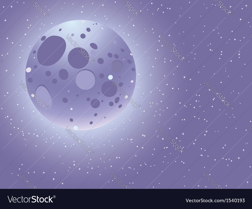 Cartoon starry sky vector | Price: 1 Credit (USD $1)