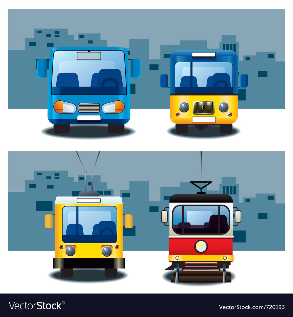 City transport vector | Price: 3 Credit (USD $3)