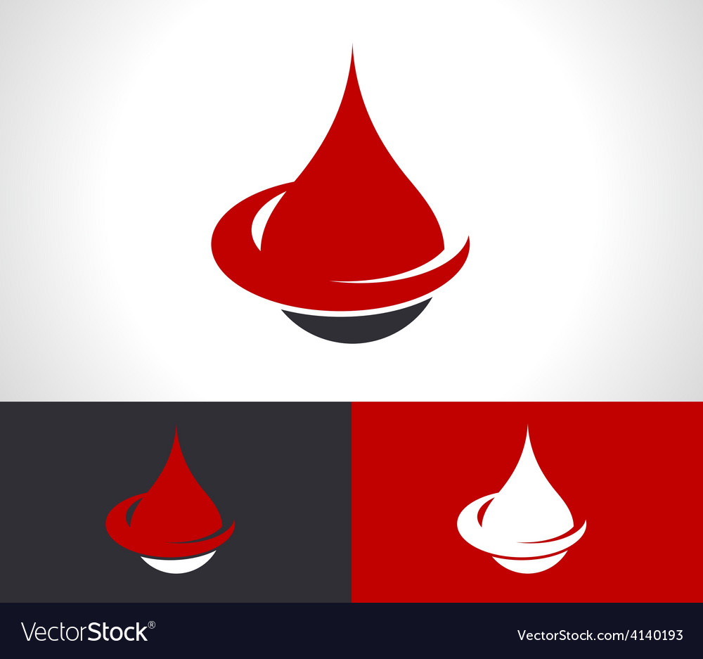 Donate blood drop logo icon vector | Price: 1 Credit (USD $1)