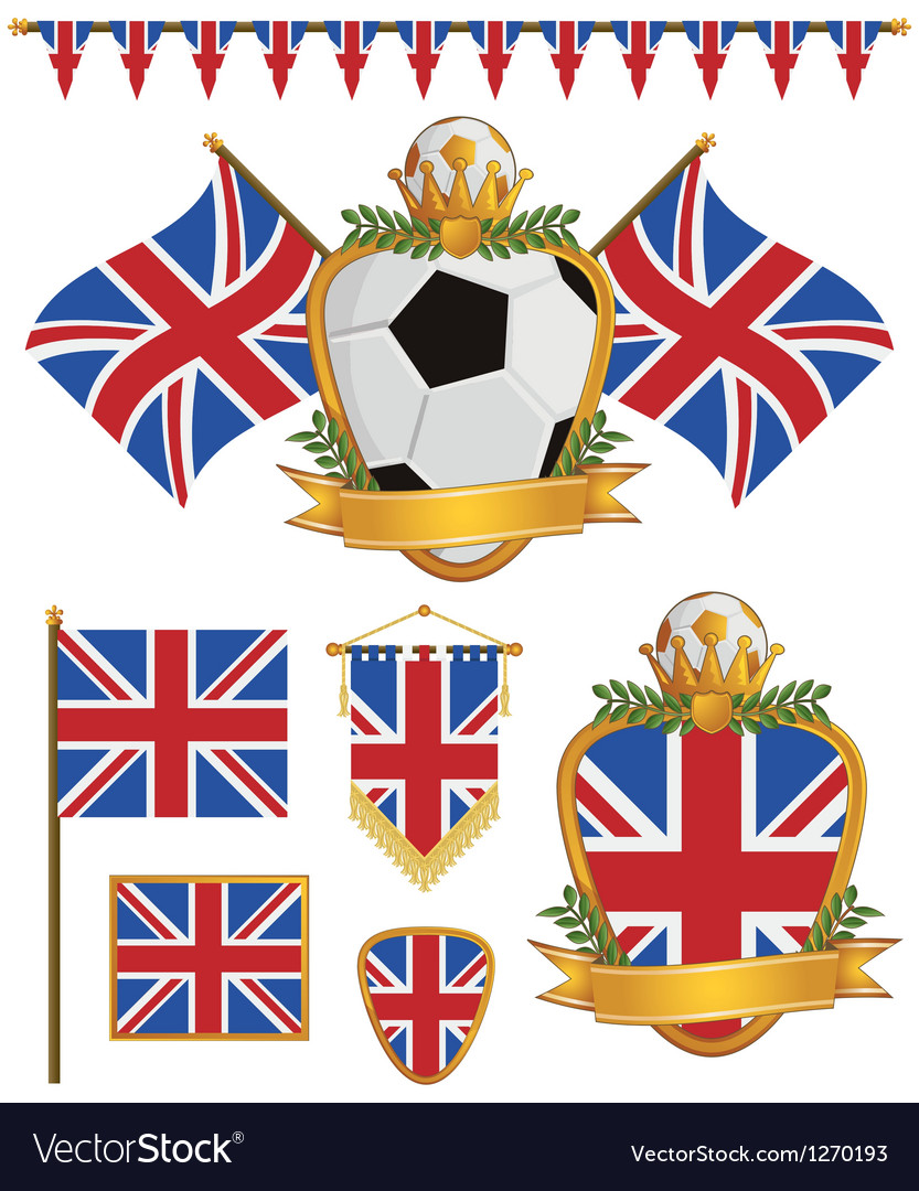 Great britain flags vector | Price: 3 Credit (USD $3)