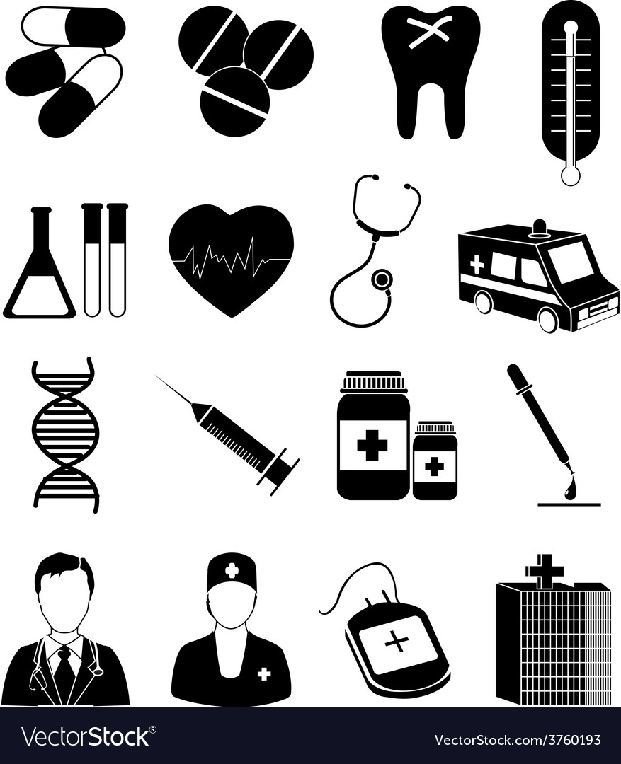 Medical healthcare icons set vector | Price: 3 Credit (USD $3)