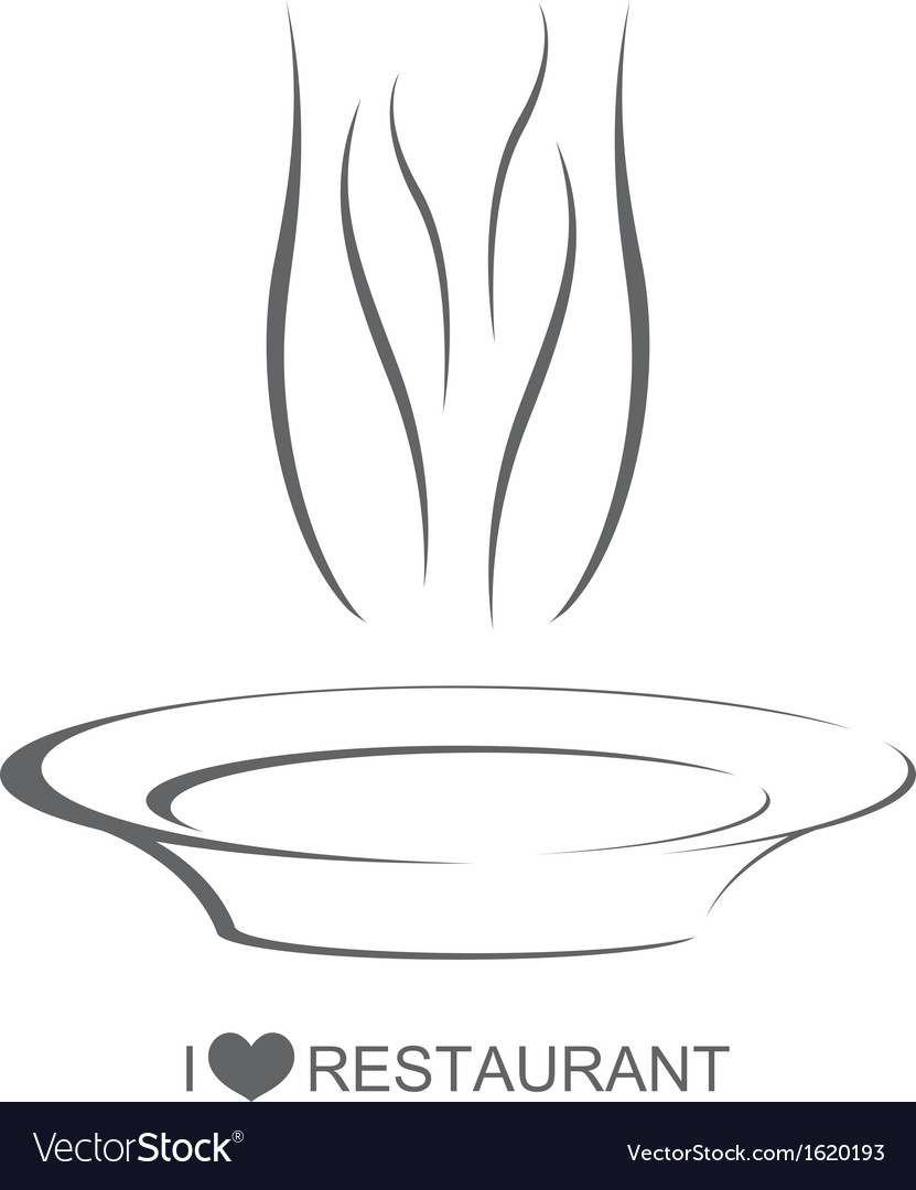 Restaurant 3 dinner plate vector | Price: 1 Credit (USD $1)