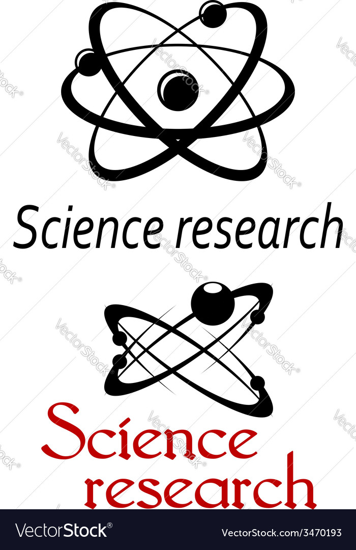 Science research emblems vector | Price: 1 Credit (USD $1)