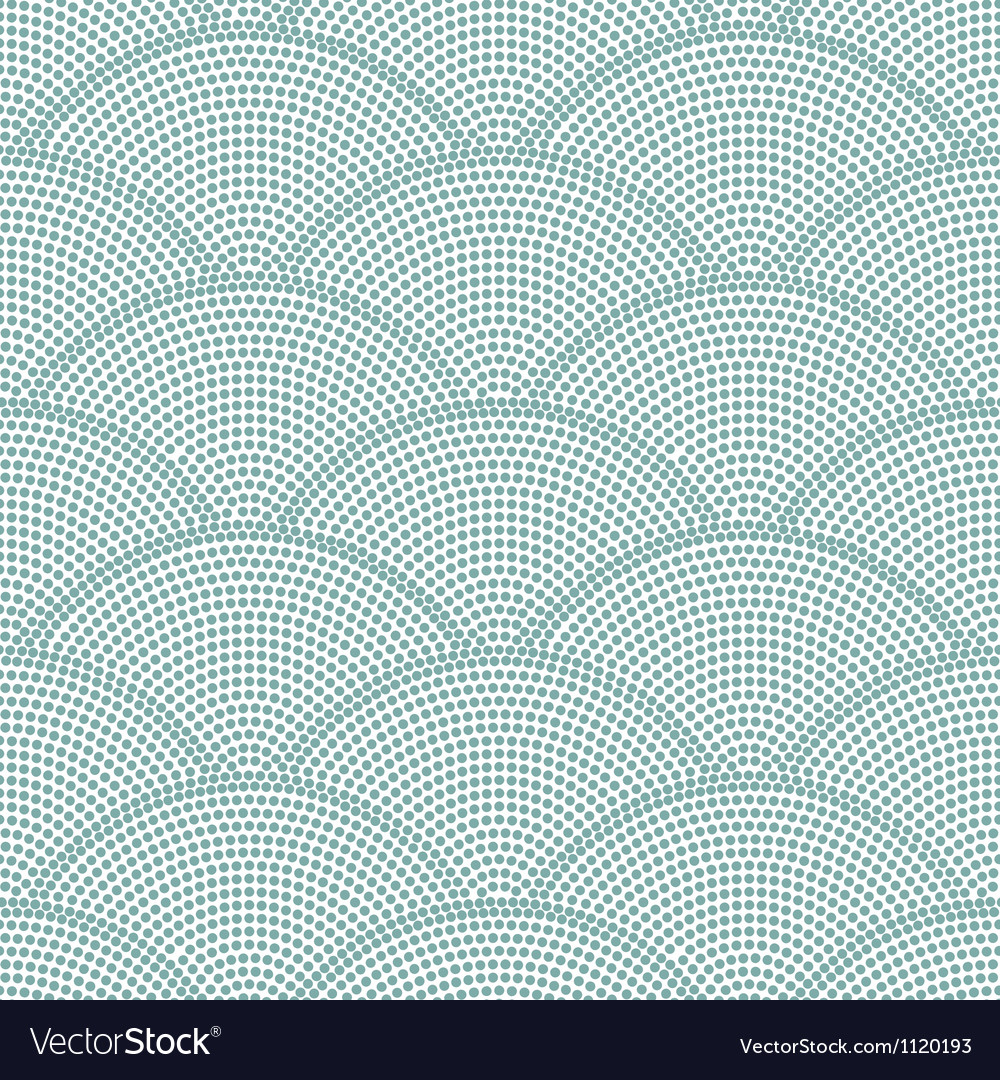 Seamless ocean wave dot pattern vector | Price: 1 Credit (USD $1)