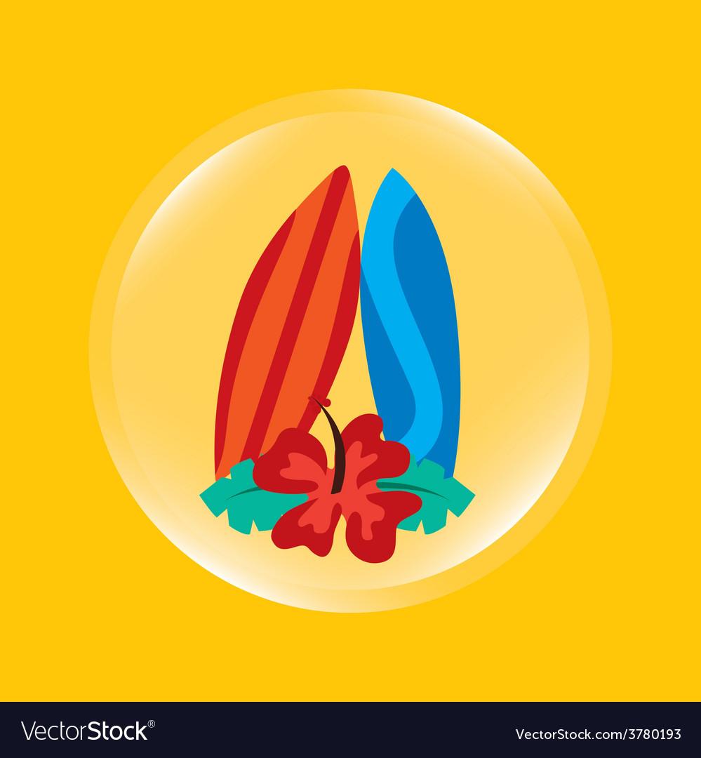 Surfboard icon vector | Price: 1 Credit (USD $1)
