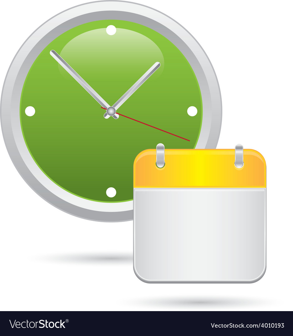 Wall clock with calendar notes vector