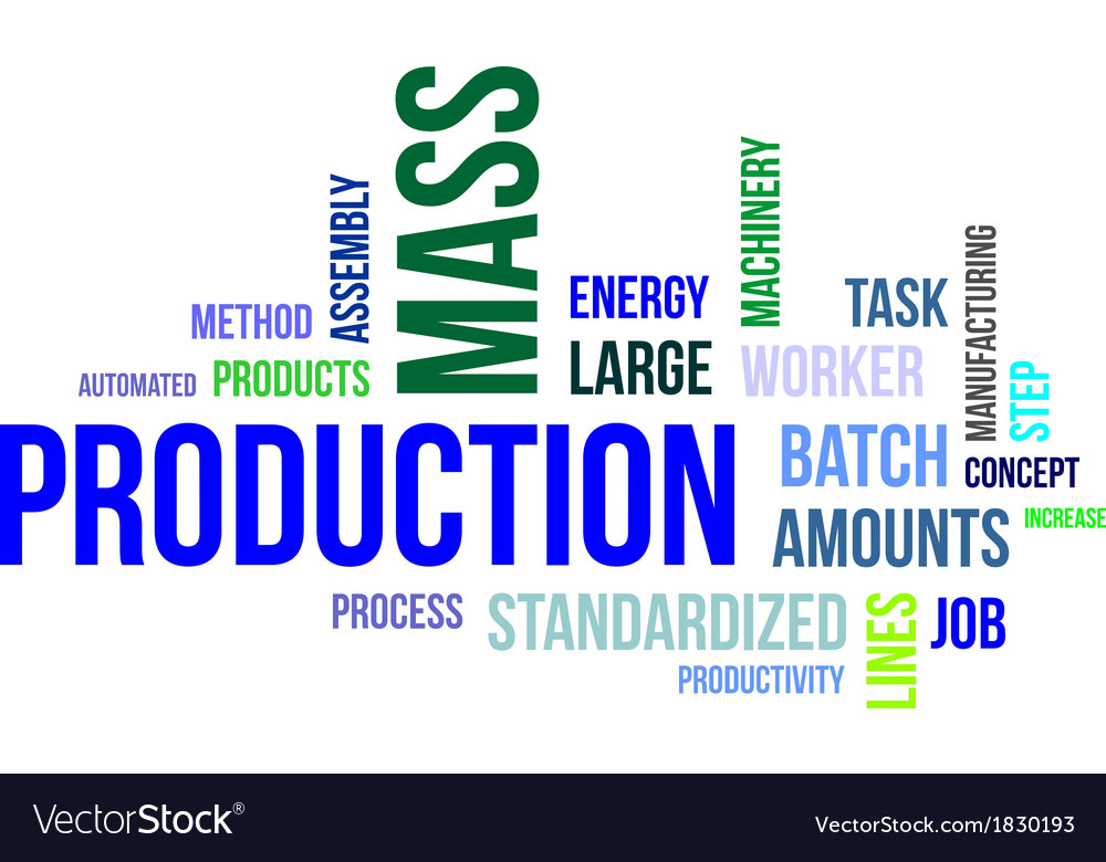 Word cloud mass production vector | Price: 1 Credit (USD $1)