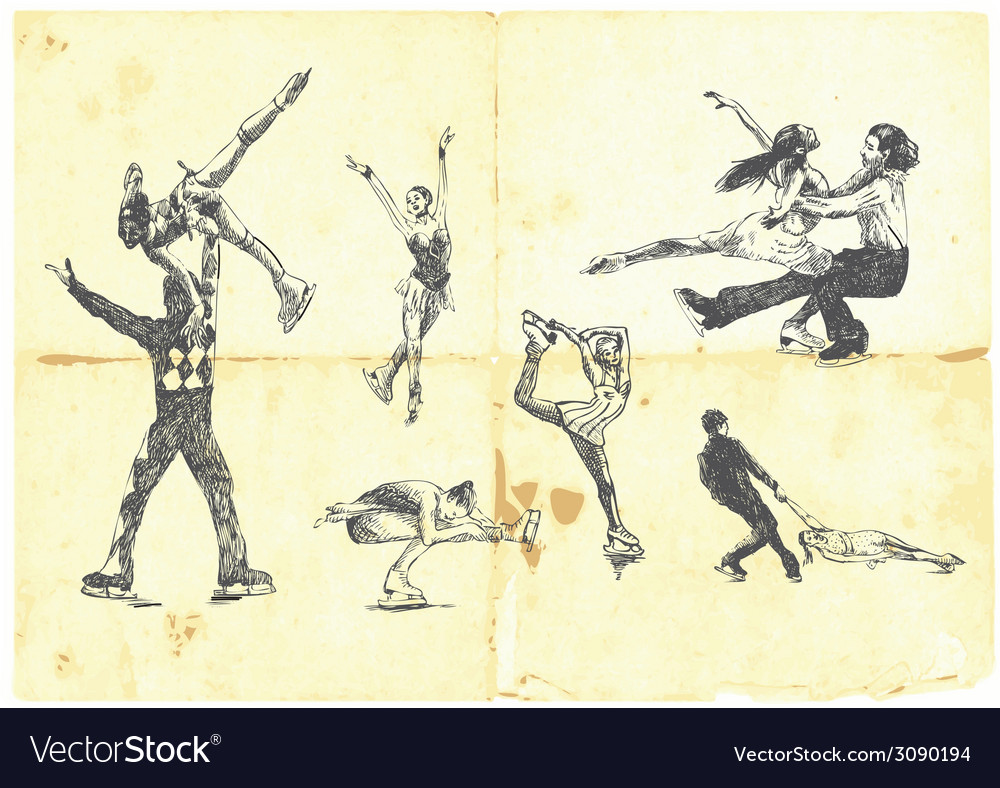 A large collection of winter sports - figure vector | Price: 1 Credit (USD $1)