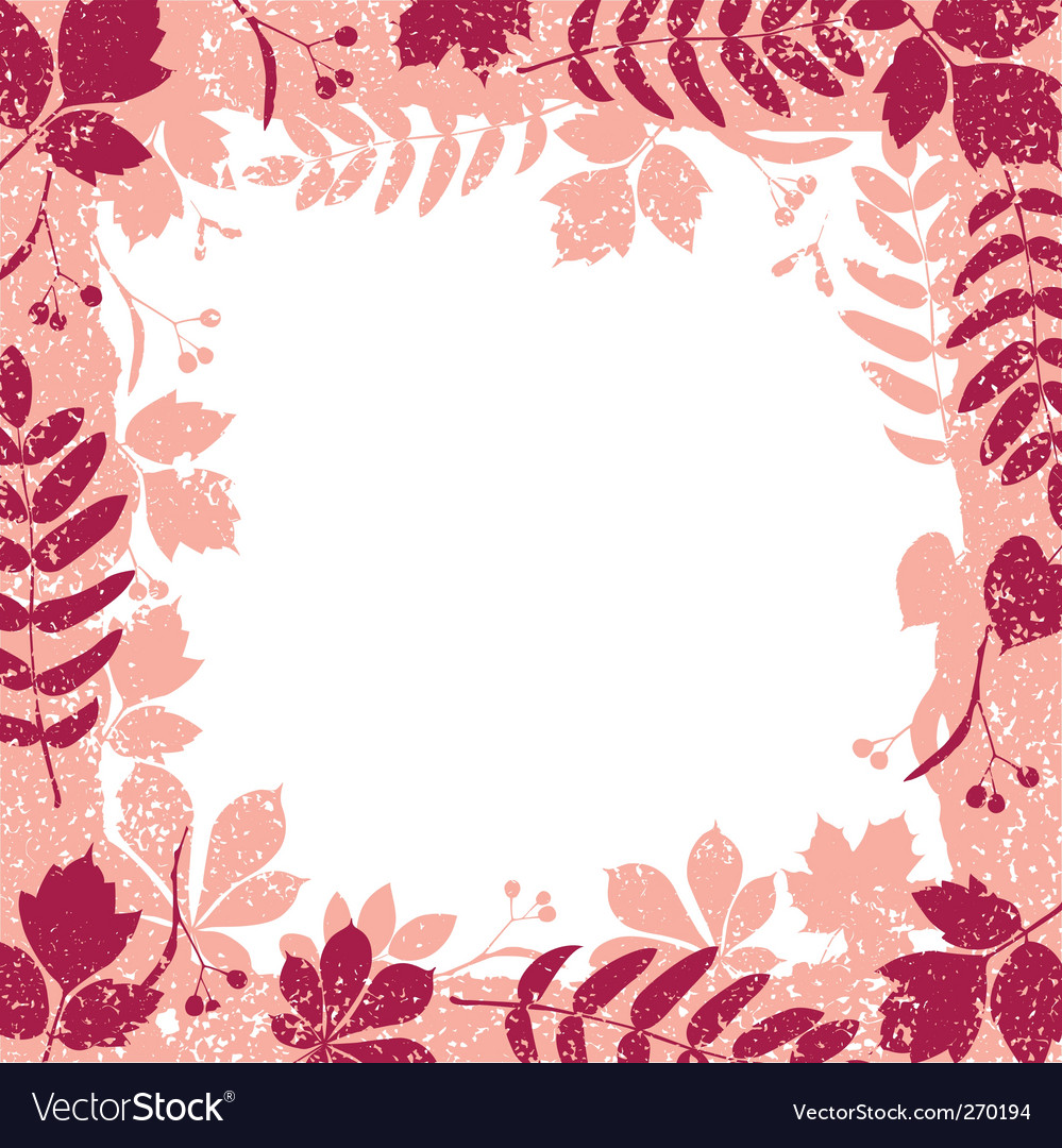 Autumn leaves grange border vector | Price: 1 Credit (USD $1)