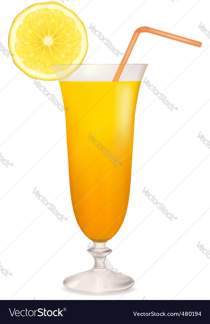 Coctail orange vector | Price: 1 Credit (USD $1)