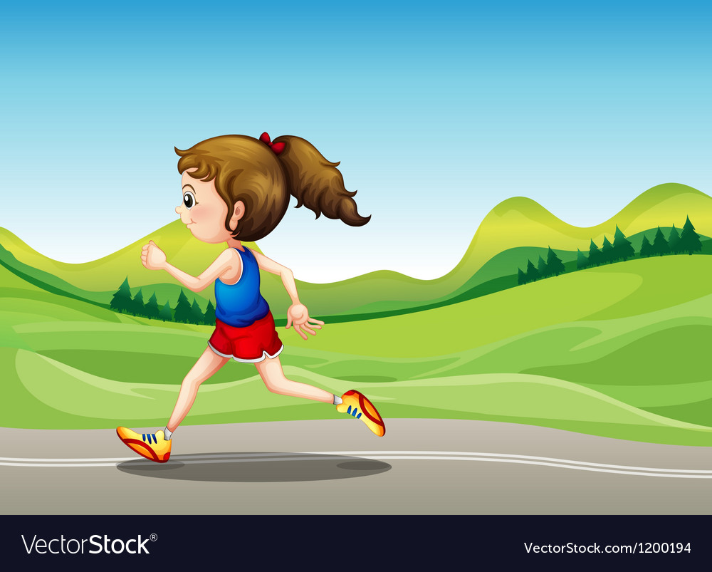 The female runner vector | Price: 1 Credit (USD $1)