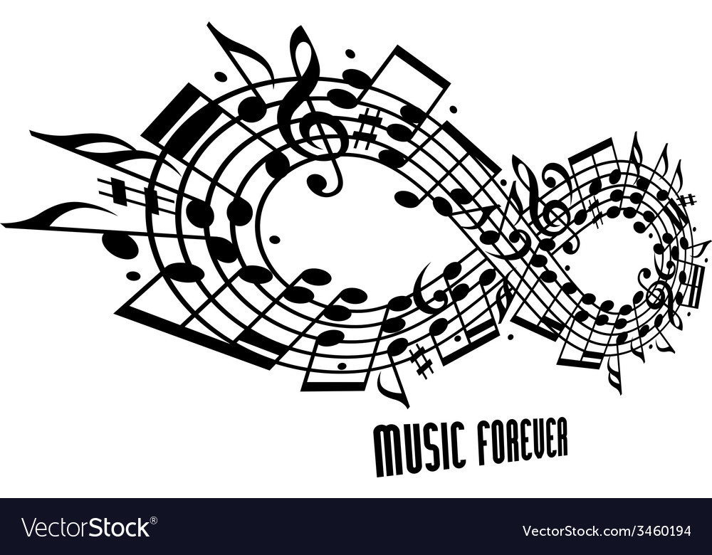 Forever music concept vector | Price: 1 Credit (USD $1)