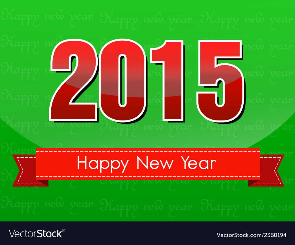 Happy new year 2015 vector | Price: 1 Credit (USD $1)