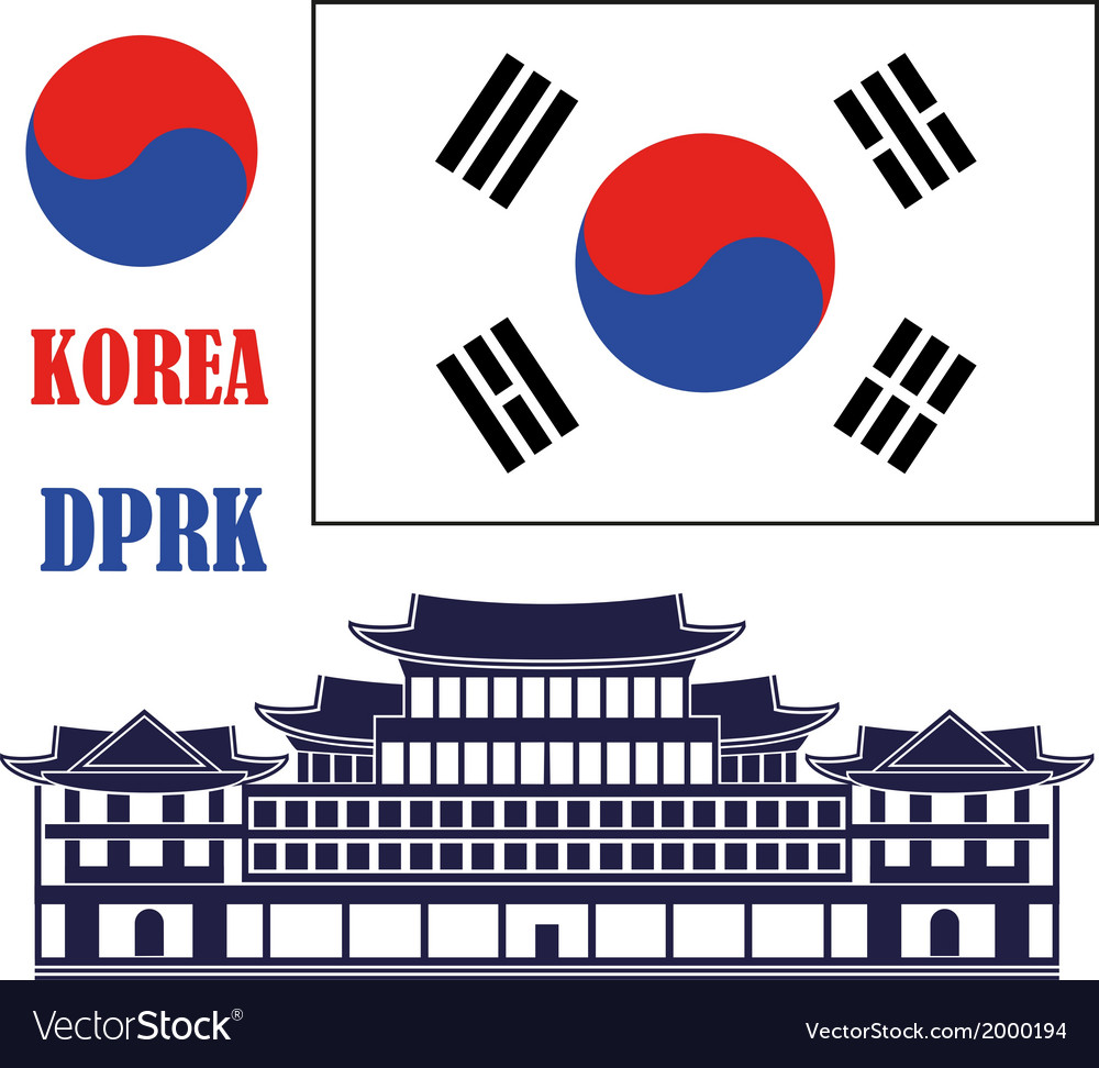 Korea vector | Price: 1 Credit (USD $1)