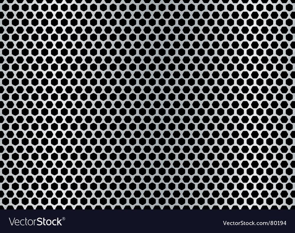 Metal hexagon background vector | Price: 1 Credit (USD $1)