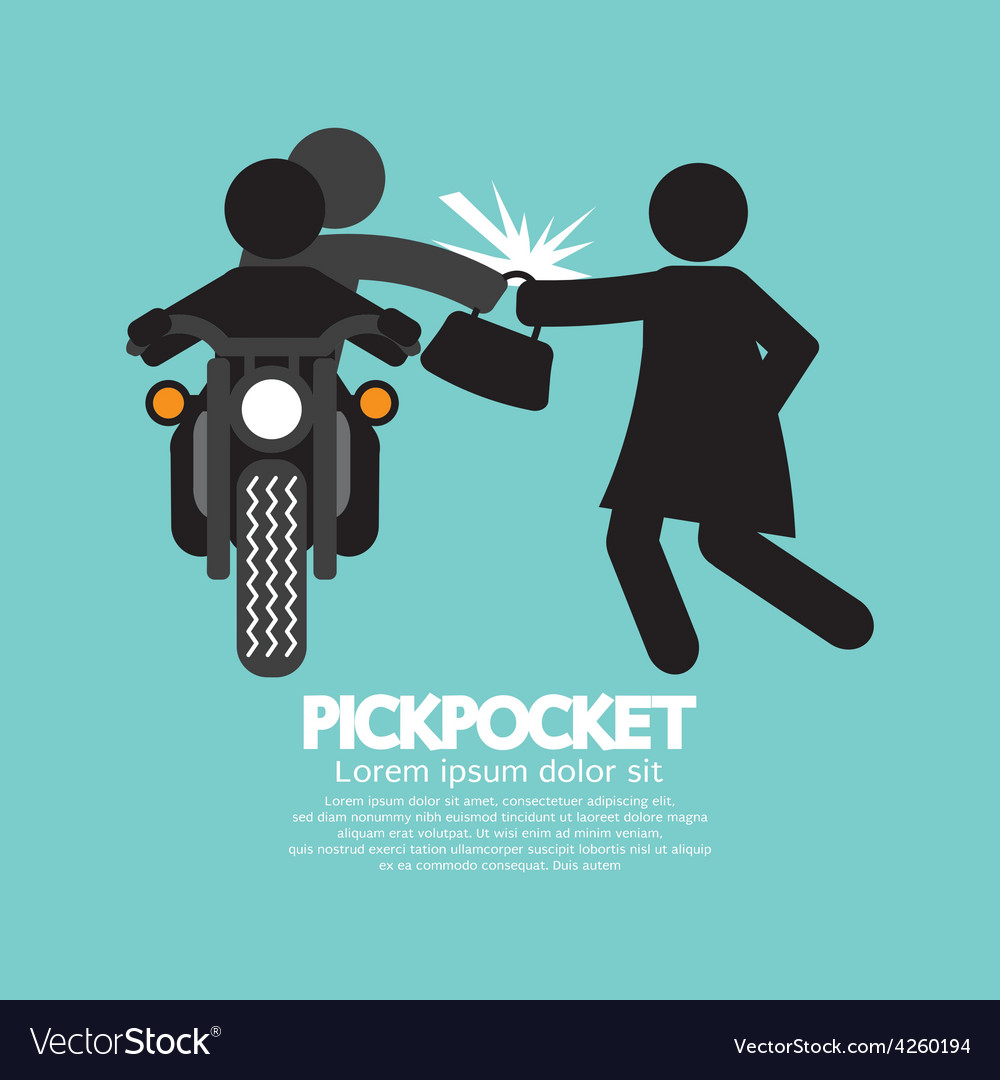 Pickpocket on motorcycle with the victim vector | Price: 1 Credit (USD $1)