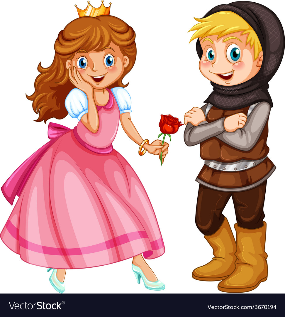 Princess and knight vector | Price: 1 Credit (USD $1)