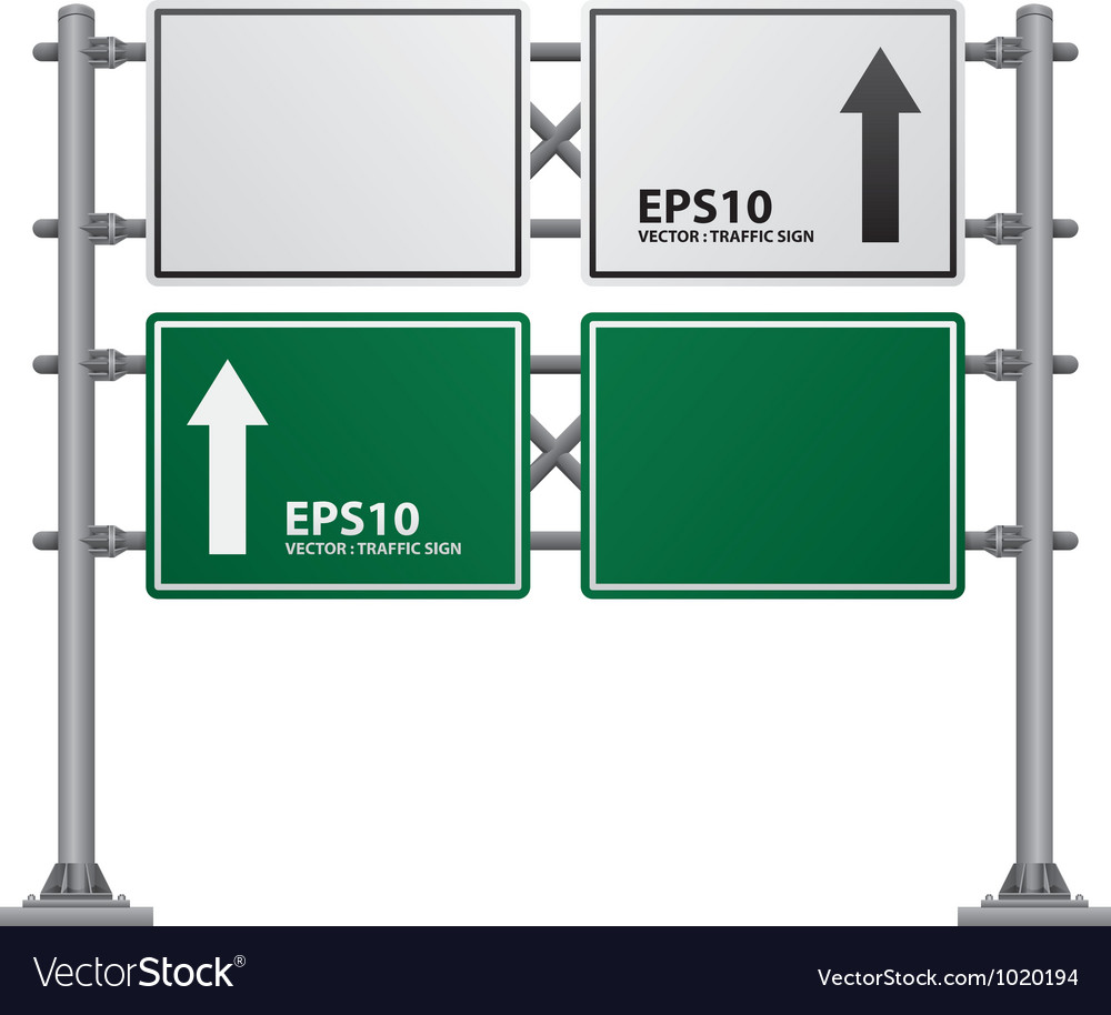 Road signs green vector | Price: 1 Credit (USD $1)