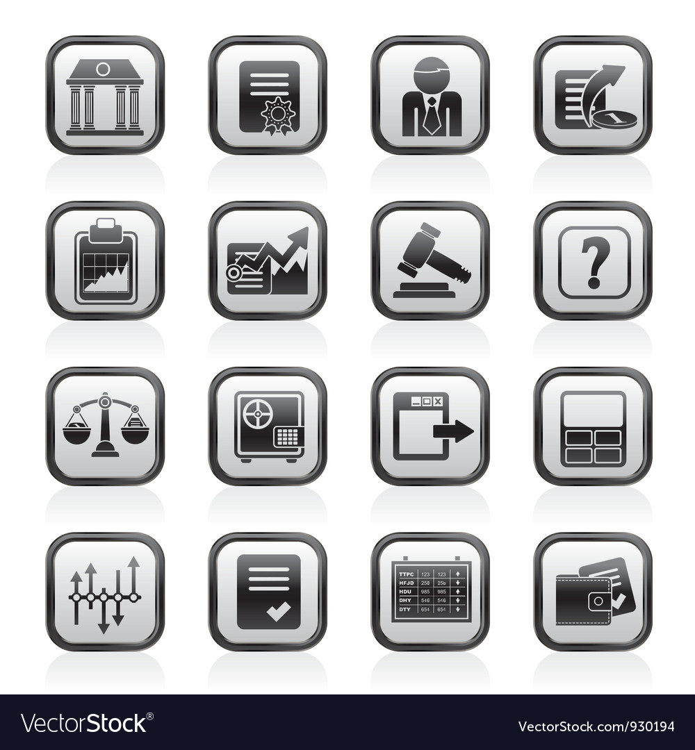 Stock exchange and finance icons vector   Price: 1 Credit (USD $1)