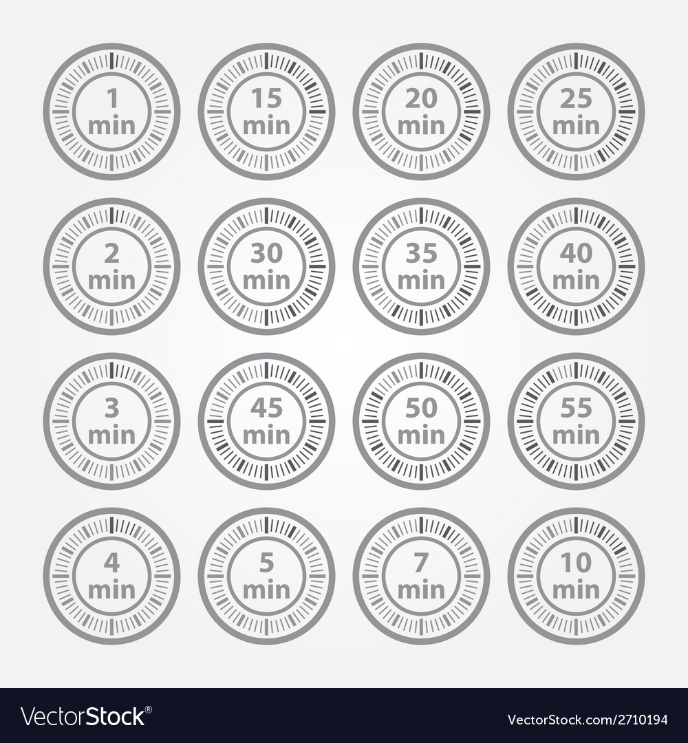 Timer icon set vector | Price: 1 Credit (USD $1)