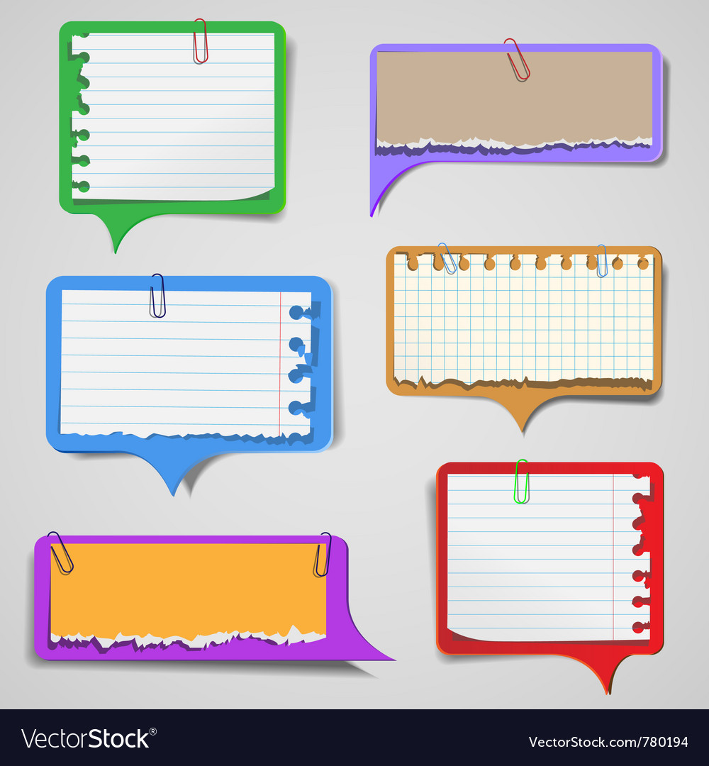 Torn paper speech bubbles vector | Price: 1 Credit (USD $1)