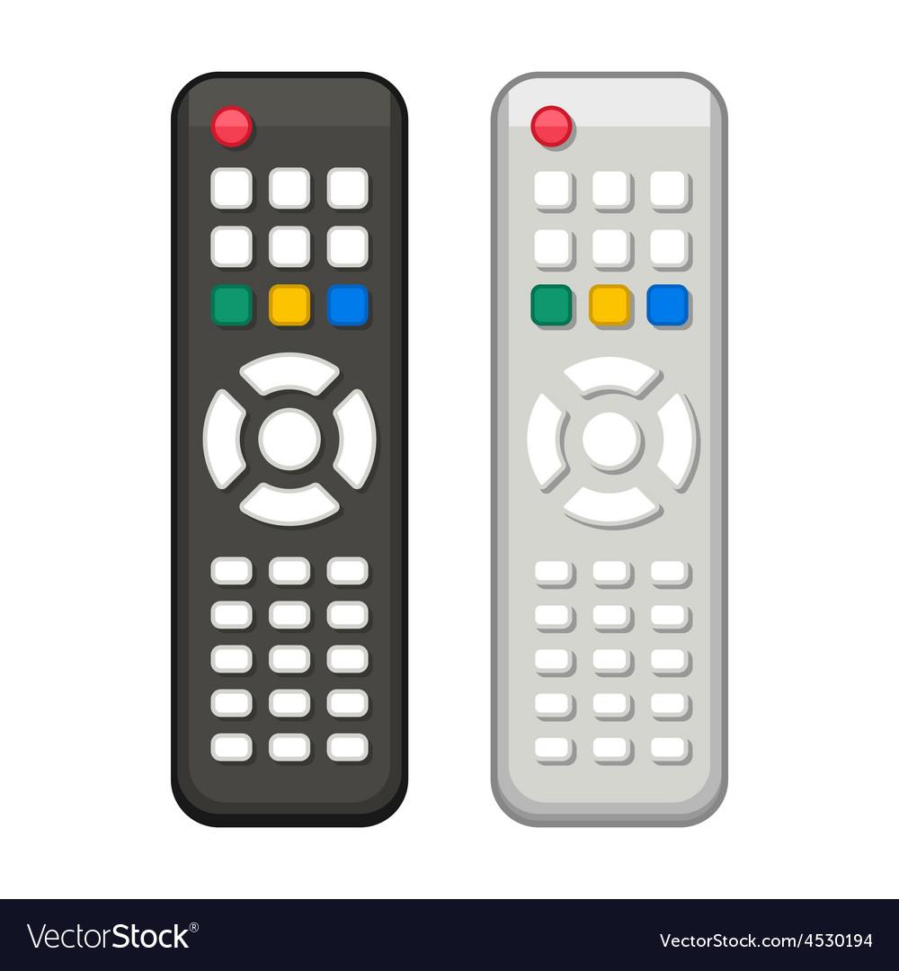 Tv remote control in black and white design vector | Price: 1 Credit (USD $1)