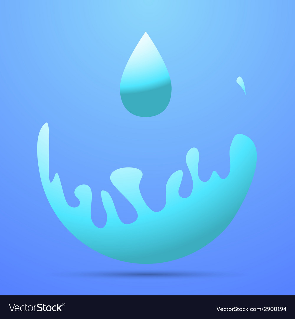 Wave splash vector | Price: 1 Credit (USD $1)