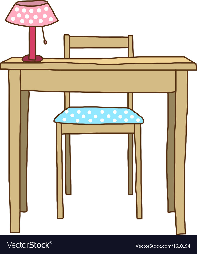 Working table vector | Price: 1 Credit (USD $1)