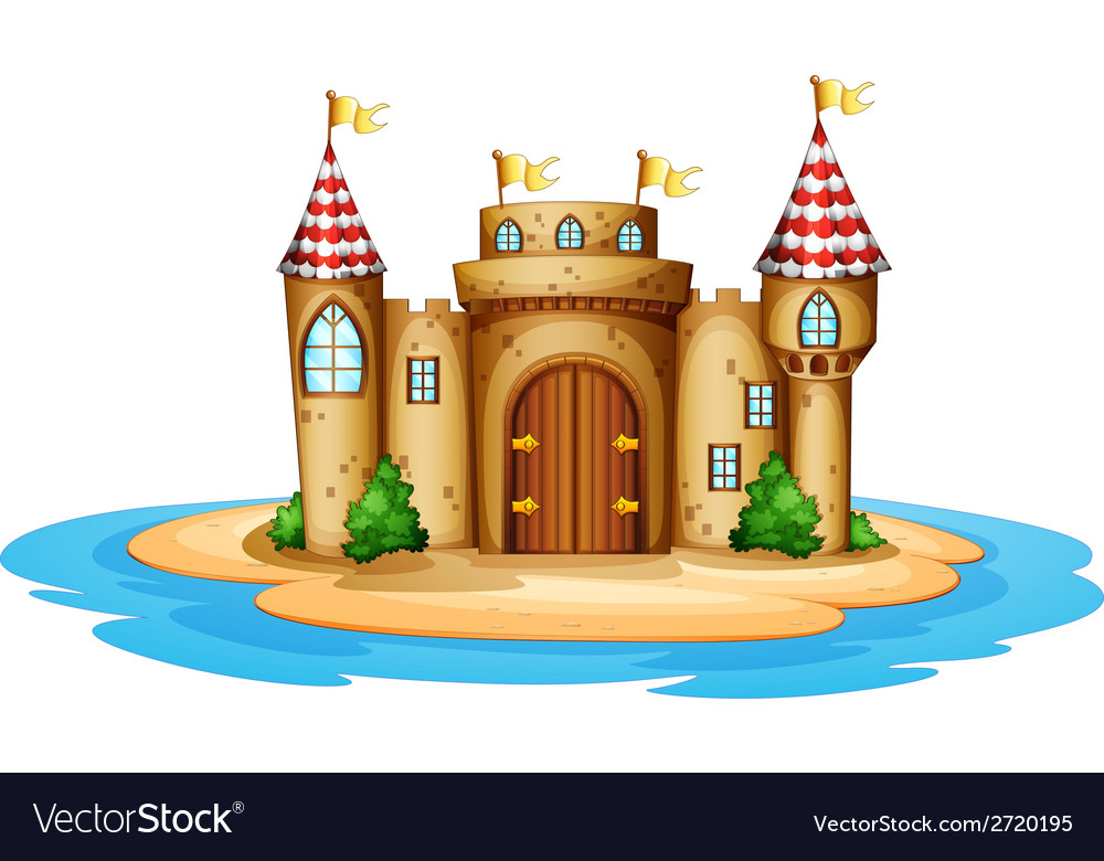 A castle in the island vector | Price: 1 Credit (USD $1)
