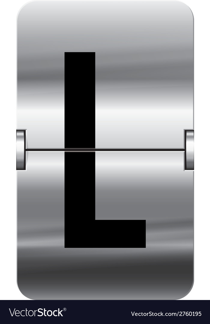 Alphabet silver flipboard letters l vector | Price: 1 Credit (USD $1)